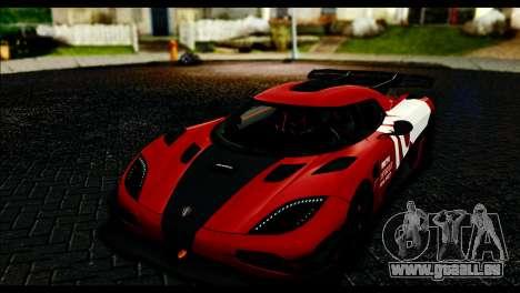 Koenigsegg One:1 v2 pour GTA San Andreas vue de dessus