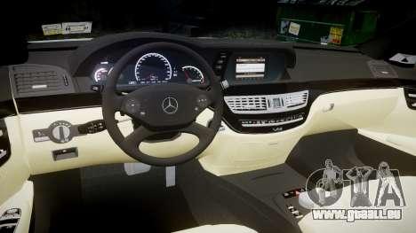 Mercedes-Benz S65 W221 AMG v2.0 rims1 für GTA 4 Innenansicht