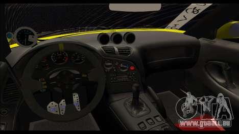 Mazda RX-7 Drift pour GTA San Andreas sur la vue arrière gauche