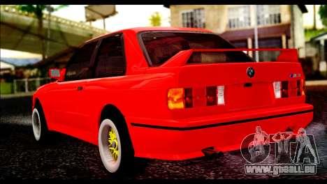 BMW M3 E30 Stock pour GTA San Andreas laissé vue