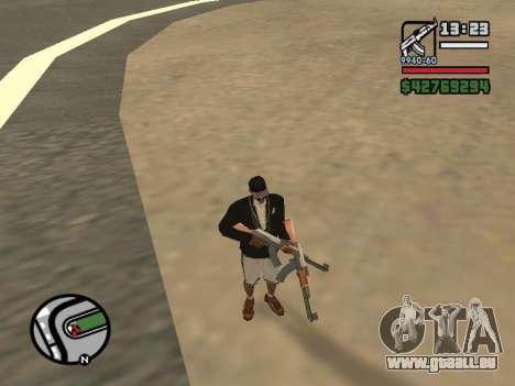 La double propriété de toutes les armes pour GTA San Andreas deuxième écran