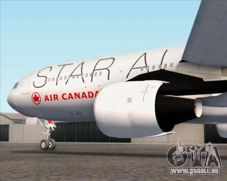 Airbus A330-300 Air Canada Star Alliance Livery pour GTA San Andreas roue