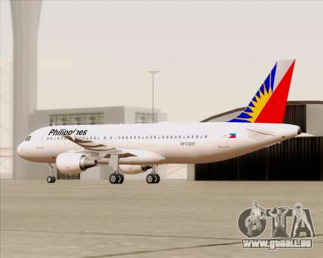 Airbus A320-200 Philippines Airlines pour GTA San Andreas vue de côté