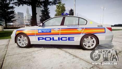 BMW 525d E60 2010 Police [ELS] pour GTA 4 est une gauche