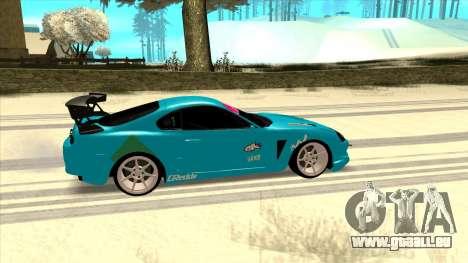 Toyota Supra Blue Lightning für GTA San Andreas zurück linke Ansicht