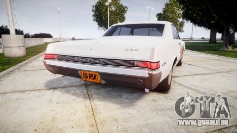 Pontiac GTO 1965 united für GTA 4 hinten links Ansicht