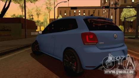 Volkswagen Polo GTi 2014 pour GTA San Andreas laissé vue