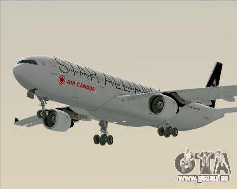 Airbus A330-300 Air Canada Star Alliance Livery pour GTA San Andreas vue arrière