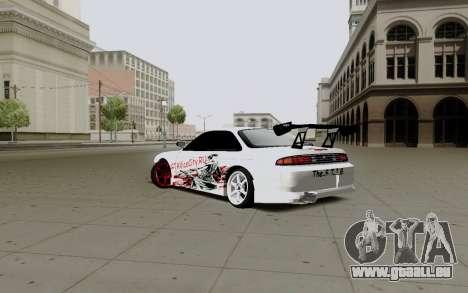 Nissan Silvia S14 VCDT V2.0 pour GTA San Andreas sur la vue arrière gauche