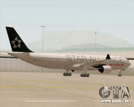 Airbus A330-300 Air Canada Star Alliance Livery pour GTA San Andreas vue intérieure