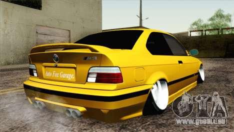 BMW M3 E36 Camber Style pour GTA San Andreas laissé vue