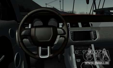 Range Rover Evoque 2014 pour GTA San Andreas sur la vue arrière gauche