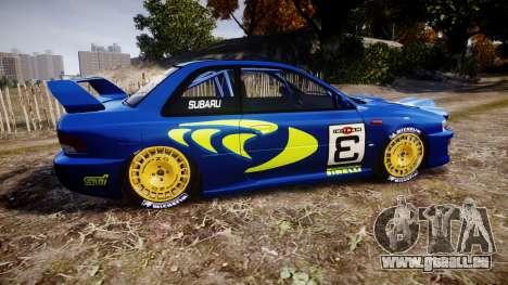 Subaru Impreza WRC 1998 v4.0 World Rally pour GTA 4 est une gauche