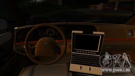 LAPD Ford Crown Victoria Whelen Lightbar pour GTA San Andreas sur la vue arrière gauche