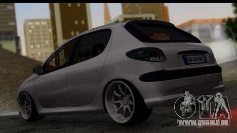 Peugeot 206 Drift JDM Style pour GTA San Andreas laissé vue