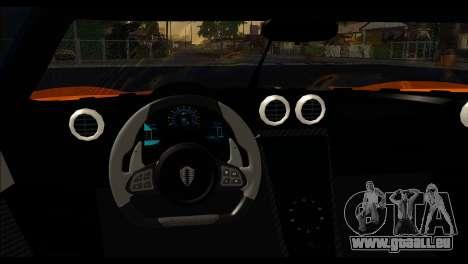 Koenigsegg One:1 v2 pour GTA San Andreas sur la vue arrière gauche