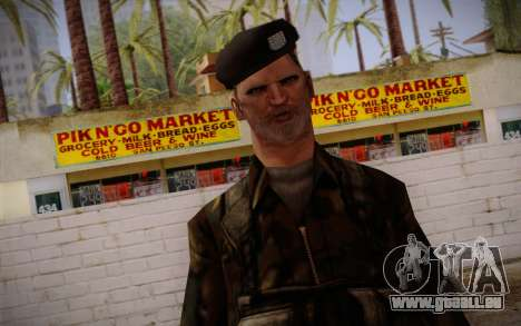 Soldier Skin 2 für GTA San Andreas dritten Screenshot