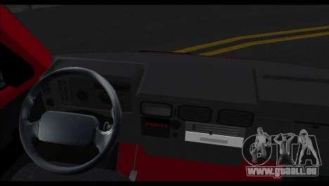 Zastava Daily 35P pour GTA San Andreas sur la vue arrière gauche