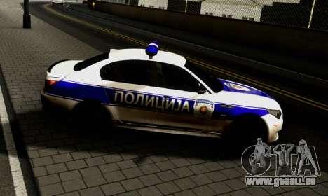 BMW M5 E60 POLICIJA pour GTA San Andreas laissé vue