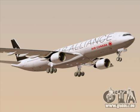 Airbus A330-300 Air Canada Star Alliance Livery pour GTA San Andreas vue de côté