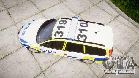 Volvo V70 2014 Swedish Police [ELS] Marked für GTA 4 rechte Ansicht