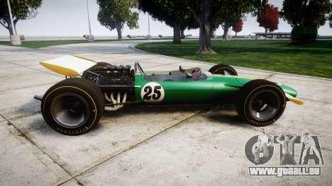 Lotus Type 49 1967 [RIV] PJ25-26 für GTA 4 linke Ansicht