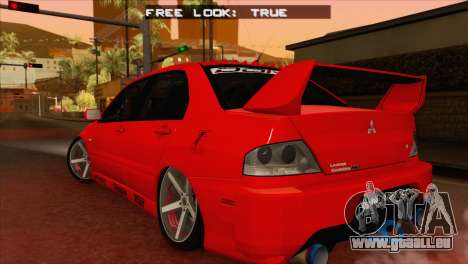 Mitsubishi Lancer Evolution VIII MR für GTA San Andreas linke Ansicht