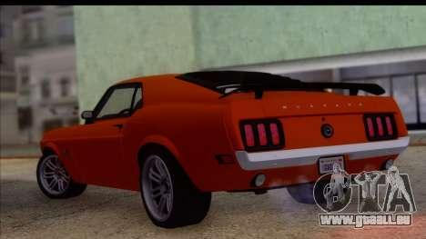 Ford Mustang Boss 429 1970 pour GTA San Andreas laissé vue