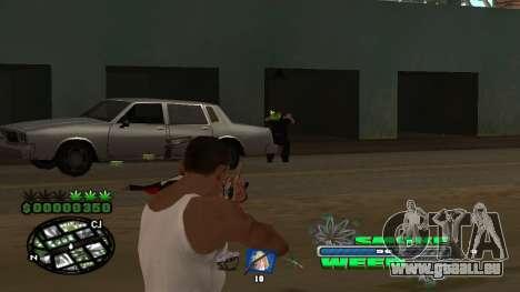 C-HUD Smoke Weed pour GTA San Andreas sixième écran