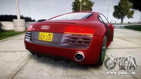 Audi R8 V10 Plus 2014 pour GTA 4 Vue arrière de la gauche