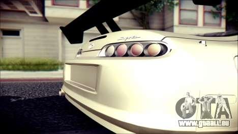 Toyota Supra Street Edition pour GTA San Andreas sur la vue arrière gauche