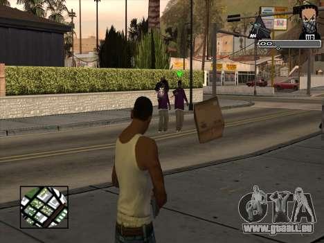 Marusya C-HUD pour GTA San Andreas deuxième écran