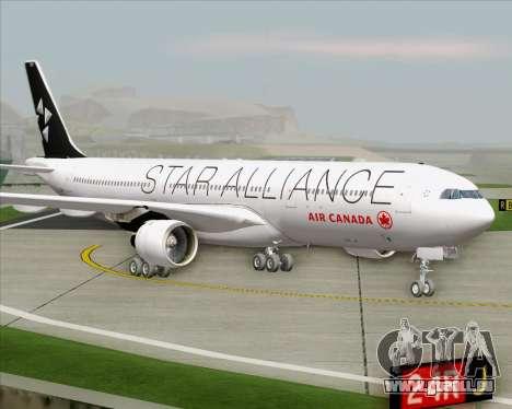 Airbus A330-300 Air Canada Star Alliance Livery für GTA San Andreas zurück linke Ansicht