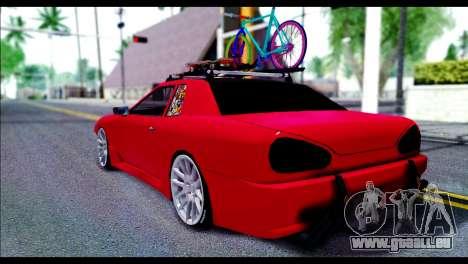 Elegy Slammed pour GTA San Andreas sur la vue arrière gauche