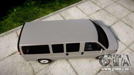 Chevrolet Express 2013 NYPD [ELS] unmarked für GTA 4 rechte Ansicht