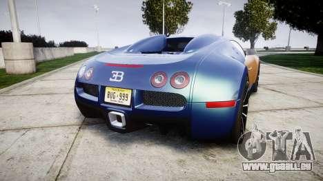 Bugatti Veyron 16.4 v2.0 pour GTA 4 Vue arrière de la gauche