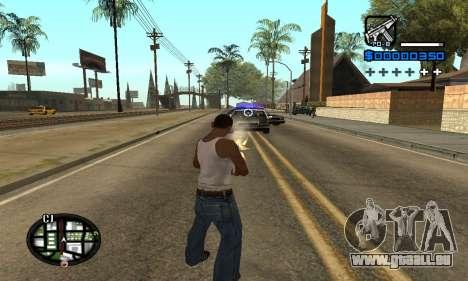 Samaro C-HUD pour GTA San Andreas troisième écran