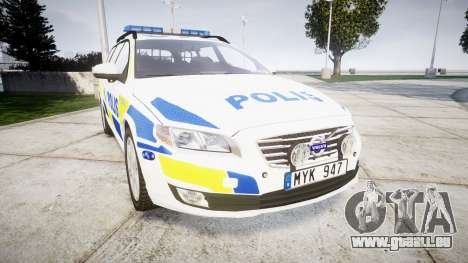 Volvo V70 2014 Swedish Police [ELS] Marked für GTA 4