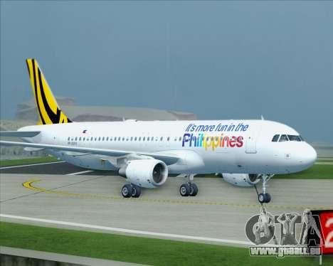 Airbus A320-200 Tigerair Philippines für GTA San Andreas obere Ansicht
