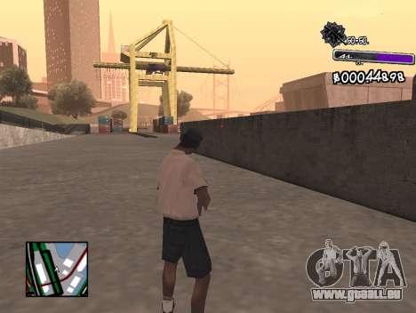 C-HUD Minimal pour GTA San Andreas deuxième écran