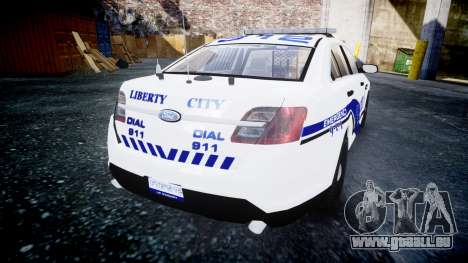 Ford Taurus 2014 Liberty City Police [ELS] pour GTA 4 Vue arrière de la gauche