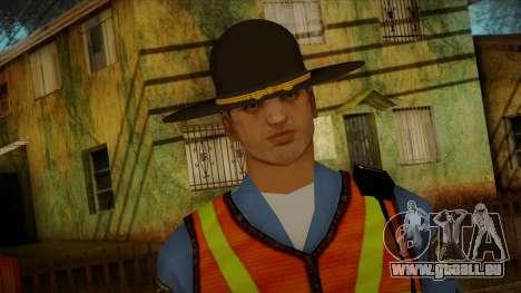 Missouri Highway Patrol Skin 1 pour GTA San Andreas troisième écran