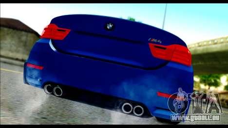 BMW M4 Stanced v2.0 pour GTA San Andreas laissé vue