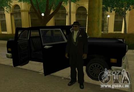Cabbie Restyle pour GTA San Andreas vue de droite