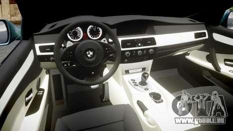 BMW M5 E60 v2.0 Stock rims pour GTA 4 est une vue de l'intérieur