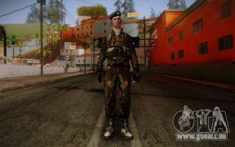 Soldier Skin 2 pour GTA San Andreas
