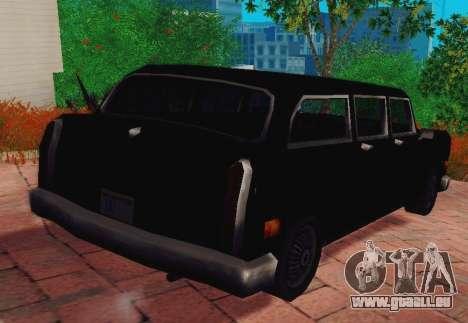 Cabbie Wagon pour GTA San Andreas sur la vue arrière gauche