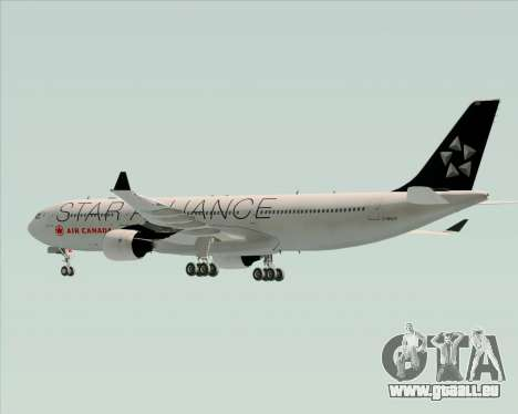 Airbus A330-300 Air Canada Star Alliance Livery pour GTA San Andreas vue de dessous