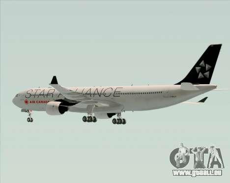Airbus A330-300 Air Canada Star Alliance Livery für GTA San Andreas Unteransicht