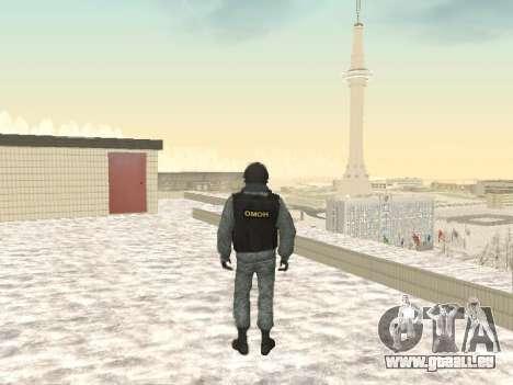 OMON MVD DE LA FÉDÉRATION DE RUSSIE pour GTA San Andreas troisième écran